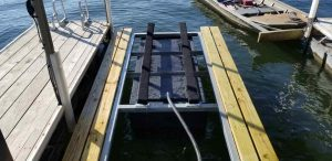 PWC lits double well as small boat lifts.