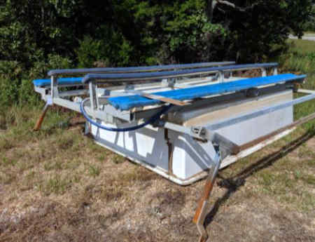 8000 lb Fibersteel used boat lift for sale