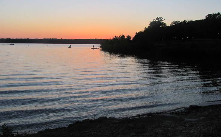 State Park at Missouri Lake Pomme de Terre at sundown